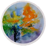 Still Life Watercolor 549110 Round Beach Towel