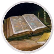 Still Life With Bible - Digital Remastered Edition Round Beach Towel