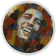Stir It Up - Retro - Bob Marley Round Beach Towel