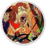 Stones On Stage - The Rolling Stones Round Beach Towel
