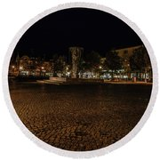 stora torget Enkoeping #i0 Round Beach Towel by Leif Sohlman