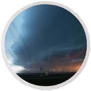 Storm Chasing West South Central Nebraska 067 Round Beach Towel