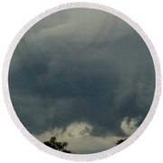 Storm In September  Round Beach Towel