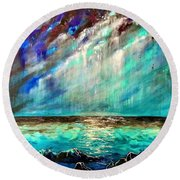 Stormy Weather  Round Beach Towel