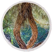 Strange Tree Round Beach Towel by Kate Brown