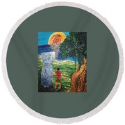 Strength In Roots Round Beach Towel by Michelle Pier