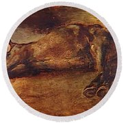 Study For Dead Horse Round Beach Towel