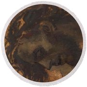 Study For The Head Of Christ In A Crucifixion Round Beach Towel