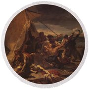 Study For The Raft Of The Medusa Round Beach Towel