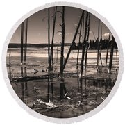 Sulfur Field Round Beach Towel