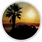 Summer Life Round Beach Towel