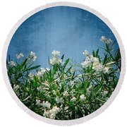 Summer Wildflowers Round Beach Towel