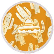 Summerbrero Round Beach Towel