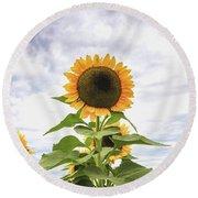 Sunflower Days Round Beach Towel