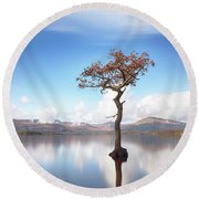 Sunny Afternoon On Loch Lomond Round Beach Towel