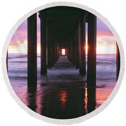 Sunrise Over The Pacific Ocean Seen Round Beach Towel