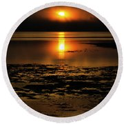 Sunrise Rathtrevor Beach 6 Round Beach Towel
