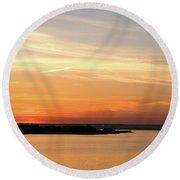 Sunset, Bay Of Palma Round Beach Towel