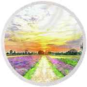Sunset - Colors Of Nature Round Beach Towel