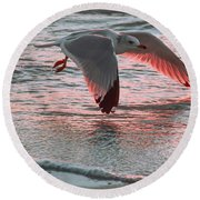 Sunset Glide Round Beach Towel