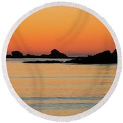 Sunset Over Sunset Bay, Oregon 5 Round Beach Towel by Dawn Richards