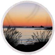 Sunset Over Sunset Bay, Oregon 6 Round Beach Towel by Dawn Richards