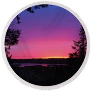 Sunset Summer Round Beach Towel