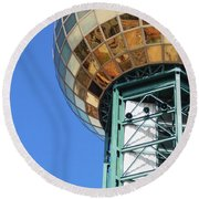 Sunsphere In Knoxville, Tn Round Beach Towel