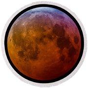 Super Wolf Blood Moon Lunar Eclipse Of 2019 Round Beach Towel