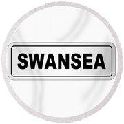 Swansea City Nameplate Round Beach Towel