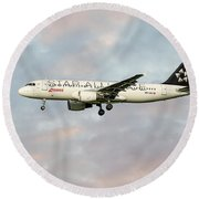 Swiss Star Alliance Livery Airbus A320-214 Round Beach Towel