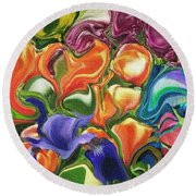 Symphony Of Color Round Beach Towel