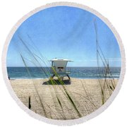 Tamarack Beach Round Beach Towel