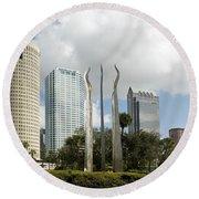 Tampa Skyline, 2007 Round Beach Towel