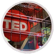 Ted In Vancouver Round Beach Towel by Ross G Strachan
