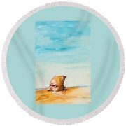 Ted's Tears In The Desert Round Beach Towel