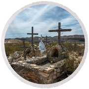 Terlingua Cemetery Round Beach Towel