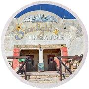 Terlingua Starlight Theatre2 Round Beach Towel
