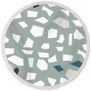 Terrazzo 1- Art By Linda Woods Round Beach Towel