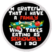 f34a0b1f53 Thanksgiving Shirt Funny Family Dinner Turkey Devotion Quote Round Beach  Towel