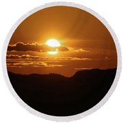That Moment Of Perspective Round Beach Towel