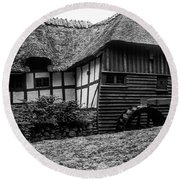 Thatched Watermill 2 Round Beach Towel
