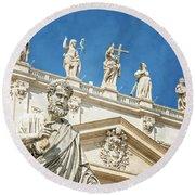 The Apostle Peter Vatican City Round Beach Towel