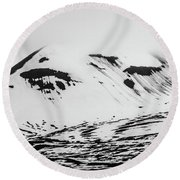 The Arctic Is Crying Round Beach Towel