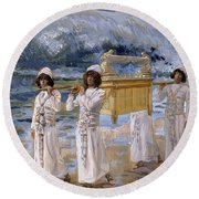 The Ark Passes Over The Jordan, 1902 Round Beach Towel