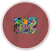 The Art Critic Round Beach Towel