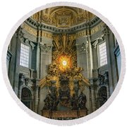 The Aspe Of St. Peter's Round Beach Towel