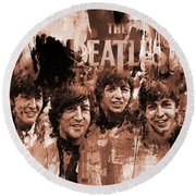 The Beatles Art  Round Beach Towel