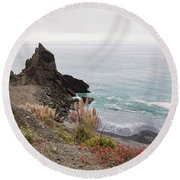 The Beauty Of Big Sur Round Beach Towel