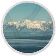 The Beauty Of The Journey II Round Beach Towel